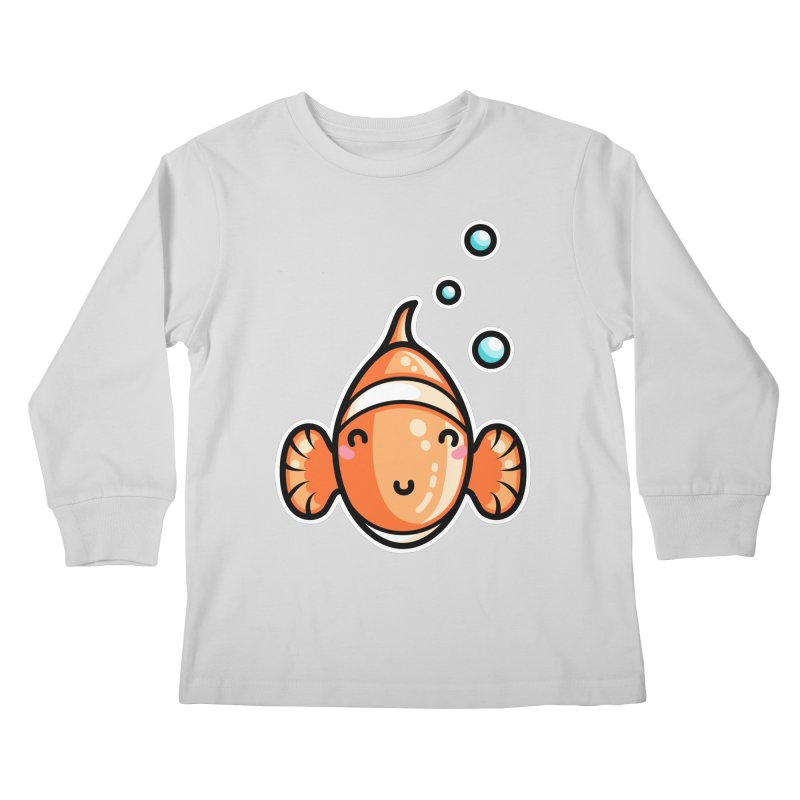 Kawaii Cute Clownfish Kids Longsleeve T-Shirt by Flaming Imp's Artist Shop