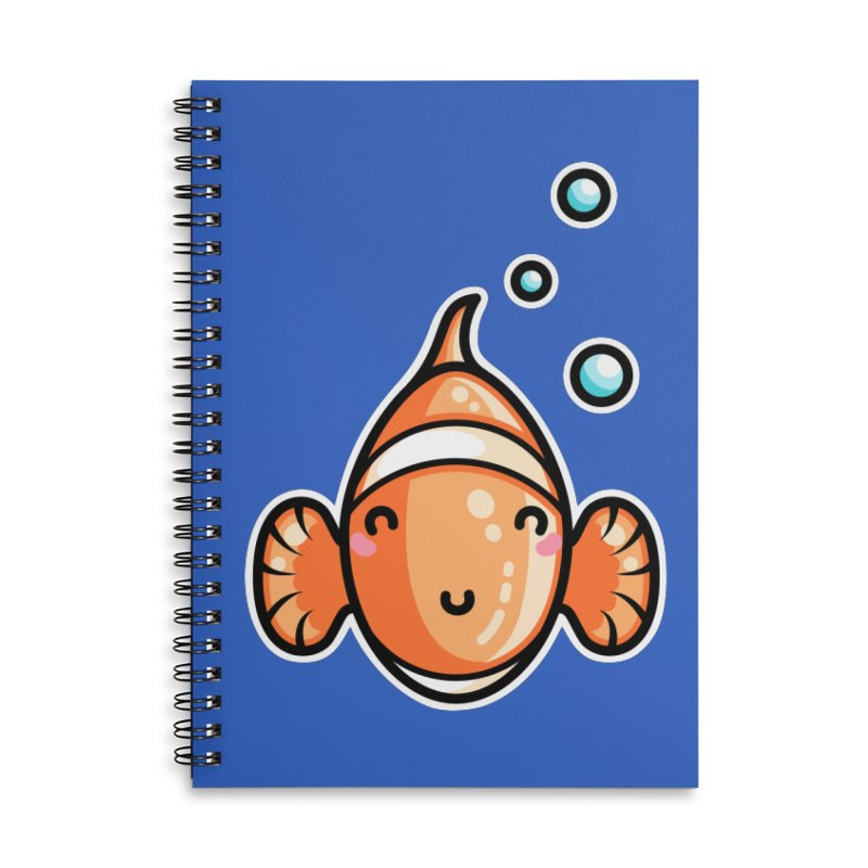 Kawaii Cute Clownfish Accessories Lined Spiral Notebook by Flaming Imp's Artist Shop