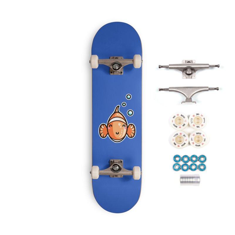 Kawaii Cute Clownfish Accessories Complete - Premium Skateboard by Flaming Imp's Artist Shop