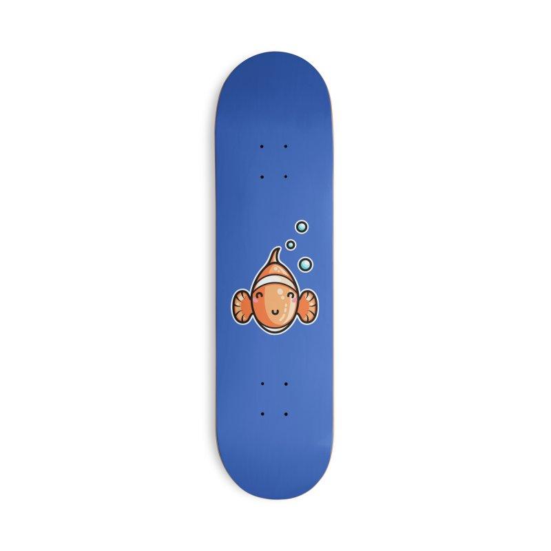 Kawaii Cute Clownfish Accessories Deck Only Skateboard by Flaming Imp's Artist Shop