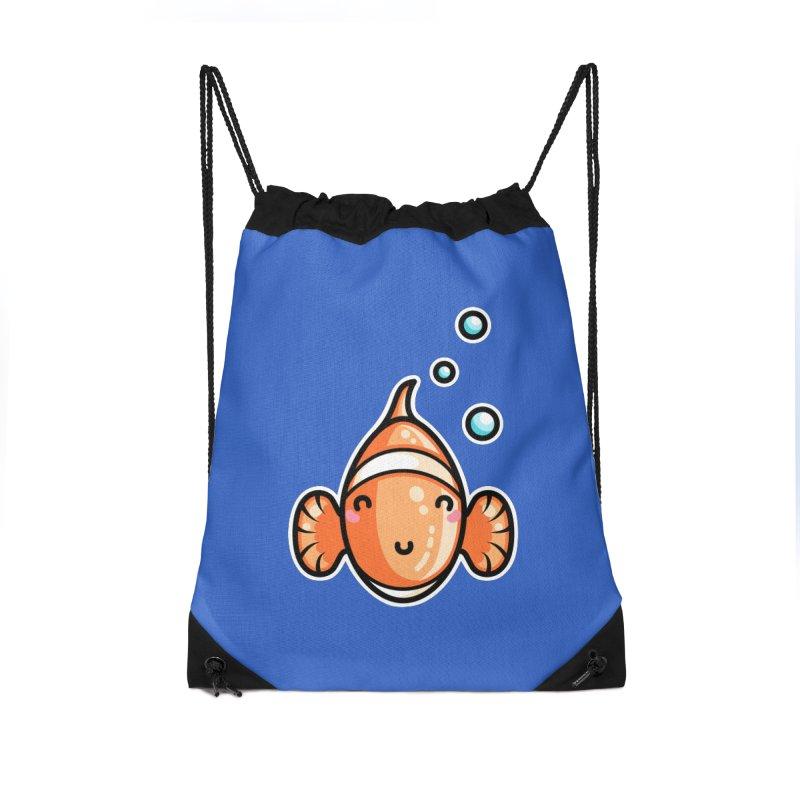 Kawaii Cute Clownfish Accessories Drawstring Bag Bag by Flaming Imp's Artist Shop