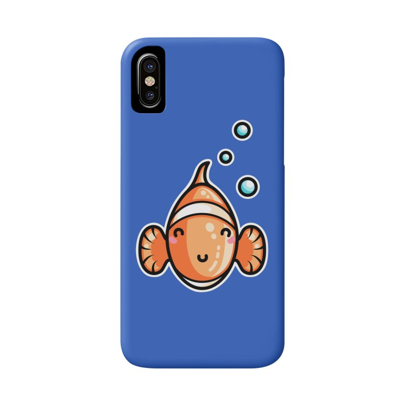 Kawaii Cute Clownfish Accessories Phone Case by Flaming Imp's Artist Shop