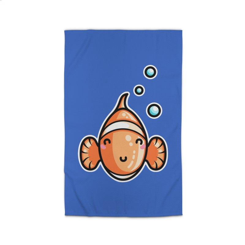 Kawaii Cute Clownfish Home Rug by Flaming Imp's Artist Shop