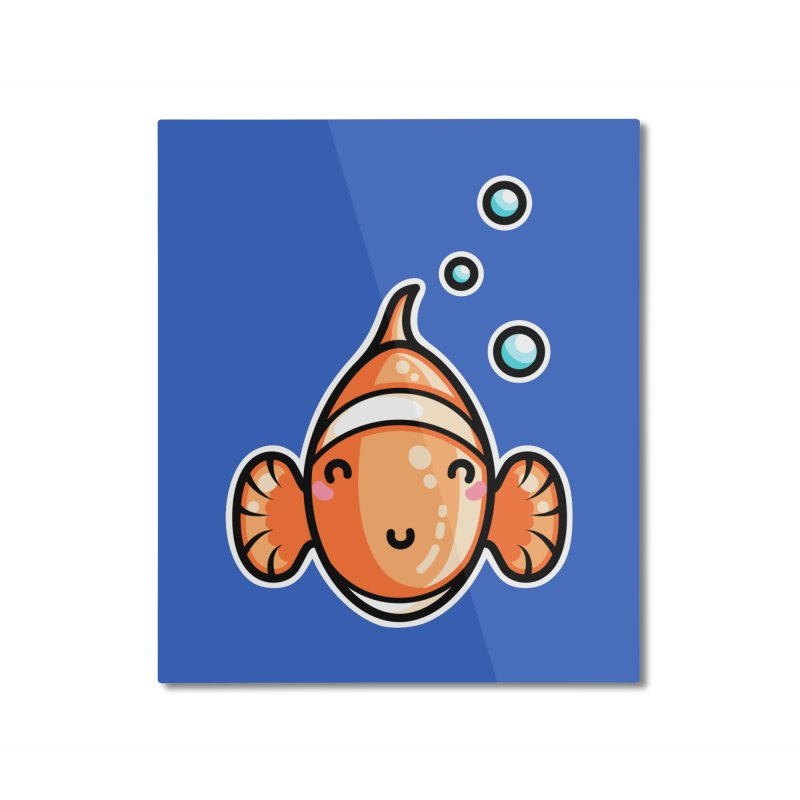 Kawaii Cute Clownfish Home Mounted Aluminum Print by Flaming Imp's Artist Shop