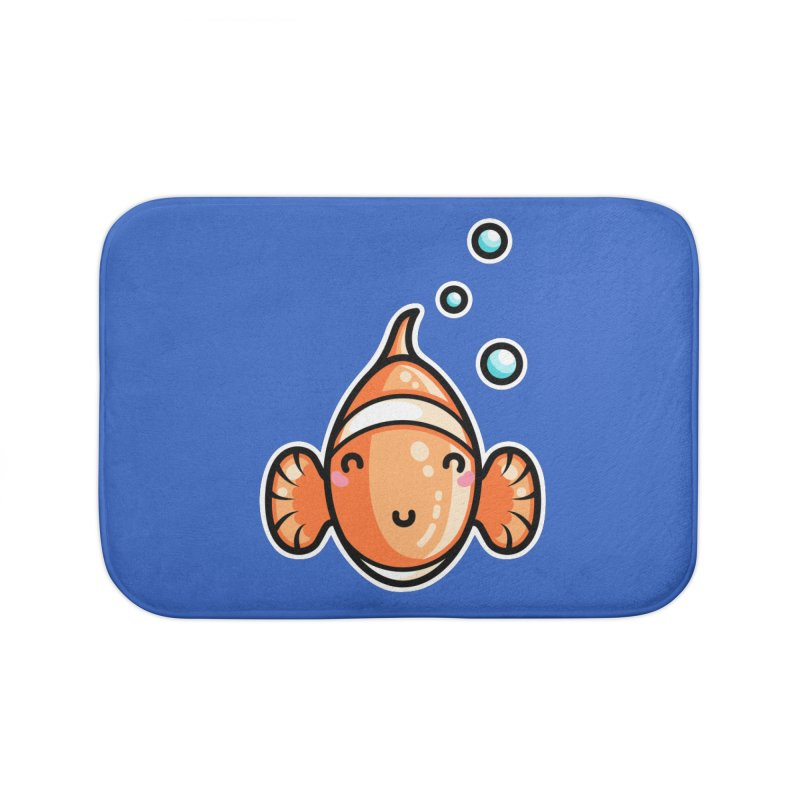 Kawaii Cute Clownfish Home Bath Mat by Flaming Imp's Artist Shop