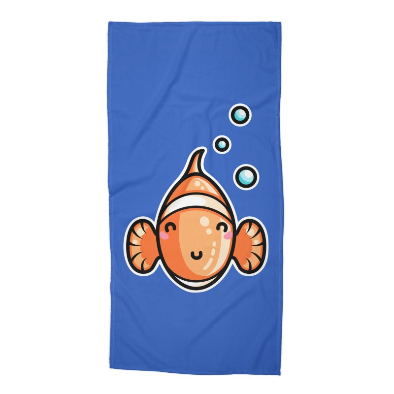 Kawaii Cute Clownfish Accessories Beach Towel by Flaming Imp's Artist Shop