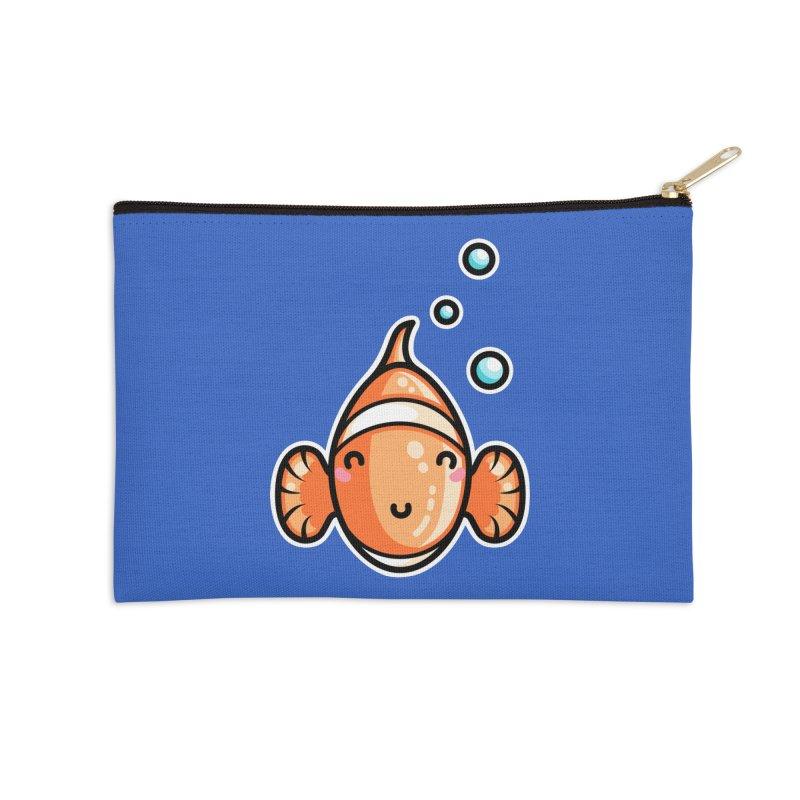 Kawaii Cute Clownfish Accessories Zip Pouch by Flaming Imp's Artist Shop