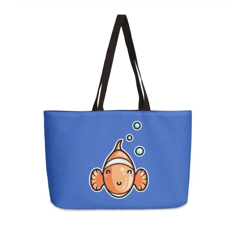 Kawaii Cute Clownfish Accessories Weekender Bag Bag by Flaming Imp's Artist Shop
