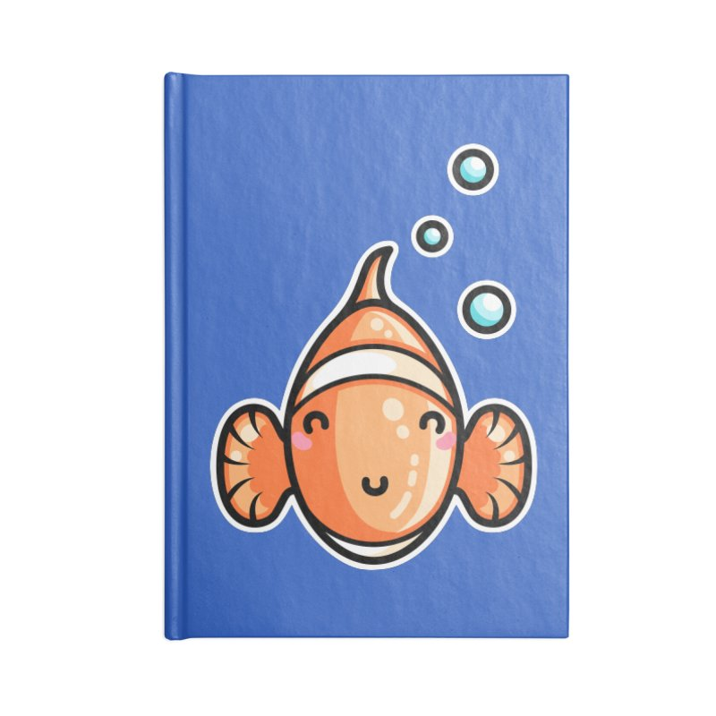 Kawaii Cute Clownfish Accessories Blank Journal Notebook by Flaming Imp's Artist Shop