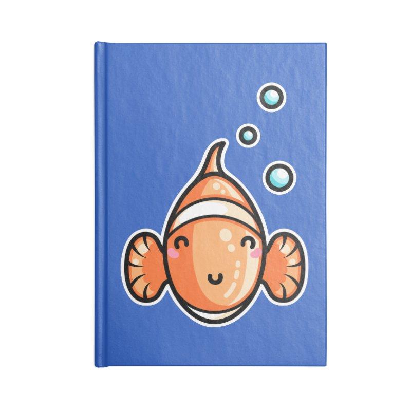 Kawaii Cute Clownfish Accessories Lined Journal Notebook by Flaming Imp's Artist Shop