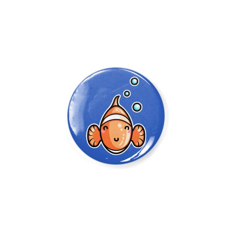 Kawaii Cute Clownfish Accessories Button by Flaming Imp's Artist Shop