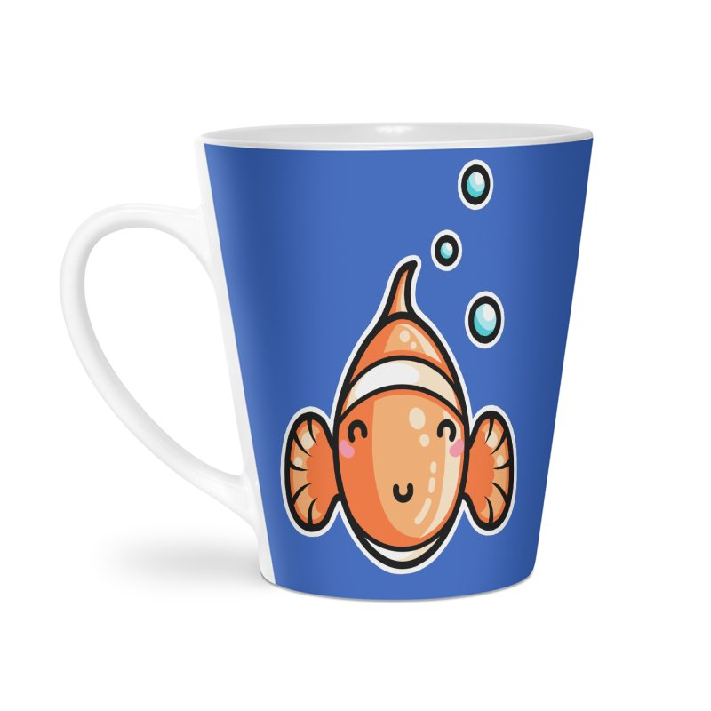 Kawaii Cute Clownfish Accessories Latte Mug by Flaming Imp's Artist Shop