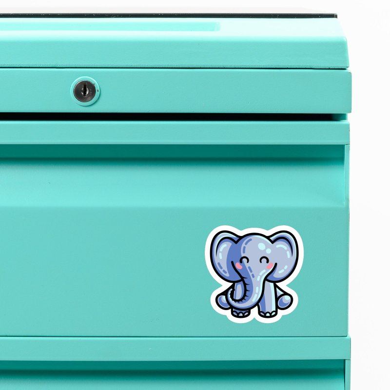 Kawaii Cute Elephant Accessories Magnet by Flaming Imp's Artist Shop