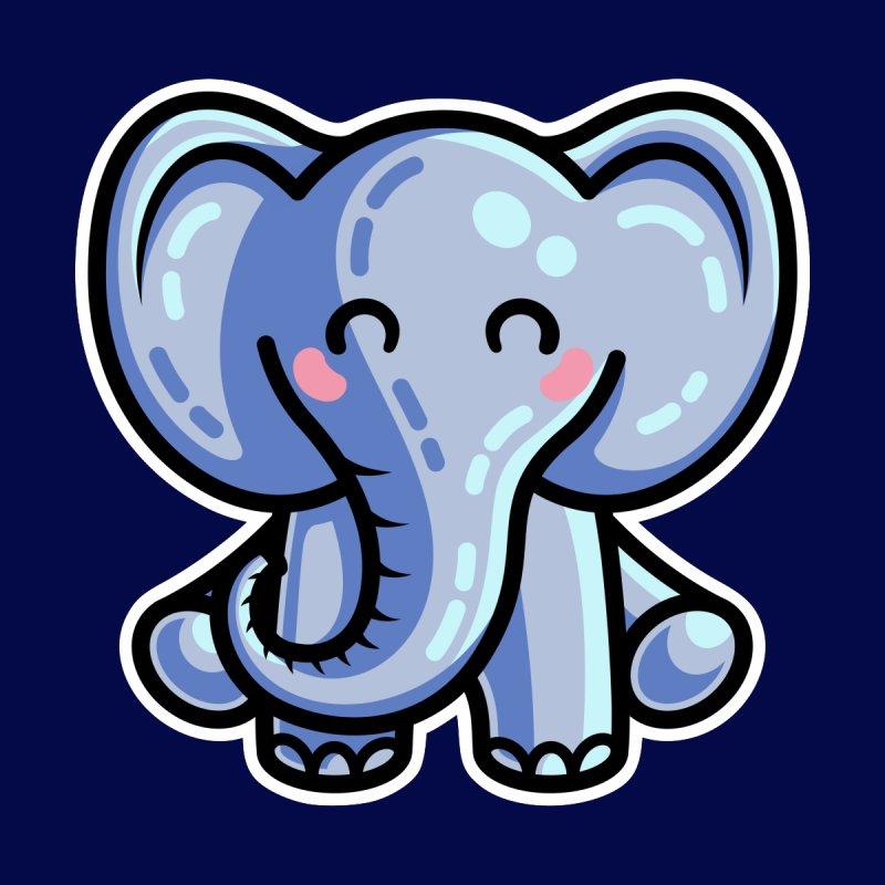 Kawaii Cute Elephant by Flaming Imp's Artist Shop