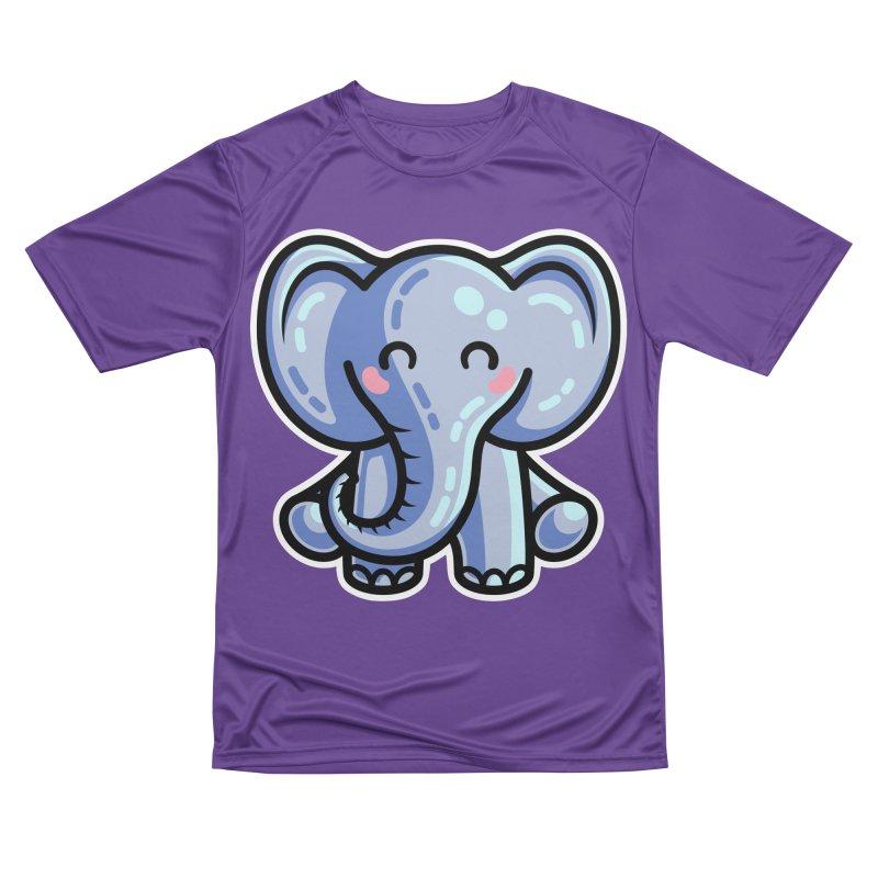 Kawaii Cute Elephant Women's Performance Unisex T-Shirt by Flaming Imp's Artist Shop