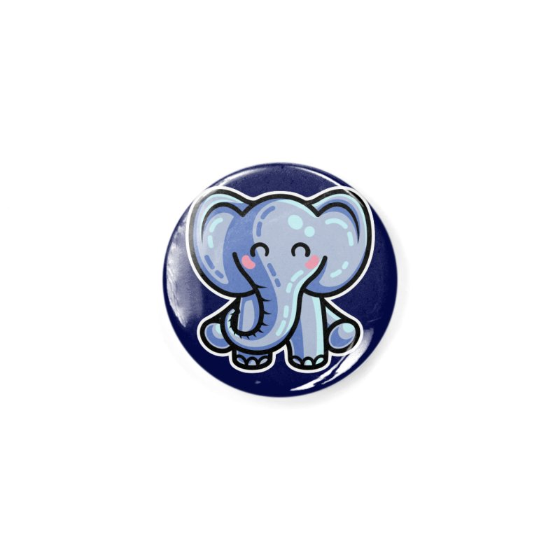 Kawaii Cute Elephant Accessories Button by Flaming Imp's Artist Shop