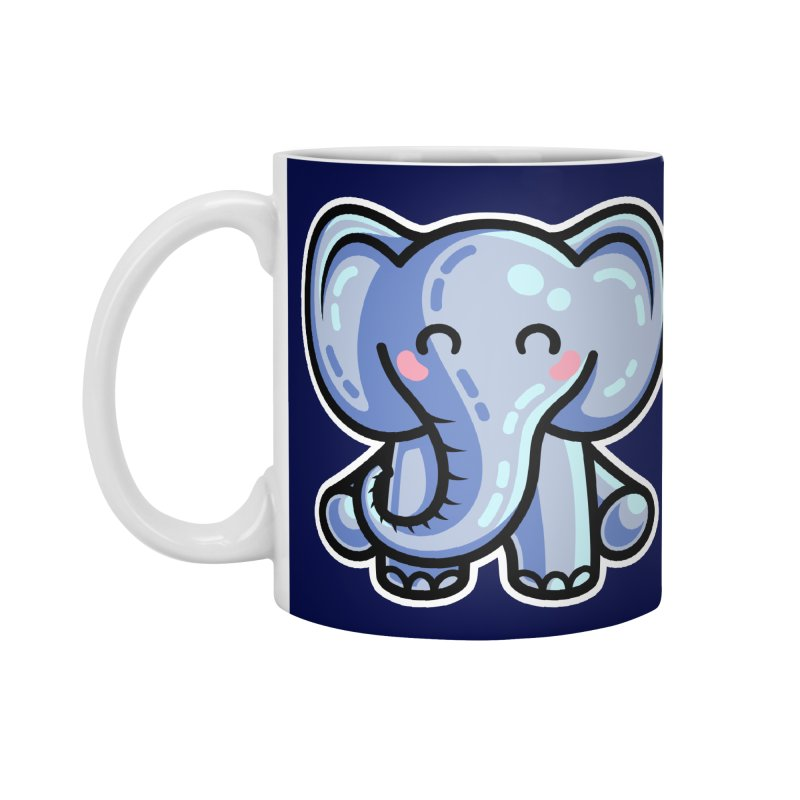 Kawaii Cute Elephant Accessories Standard Mug by Flaming Imp's Artist Shop