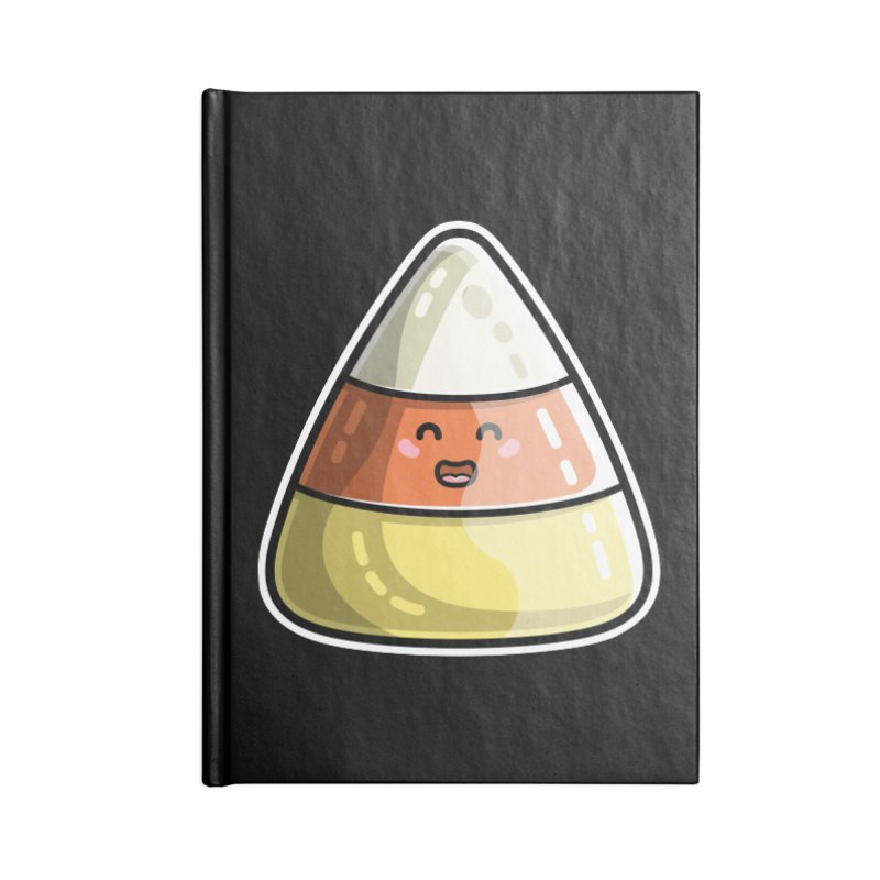 Kawaii Cute Candy Corn Accessories Blank Journal Notebook by Flaming Imp's Artist Shop