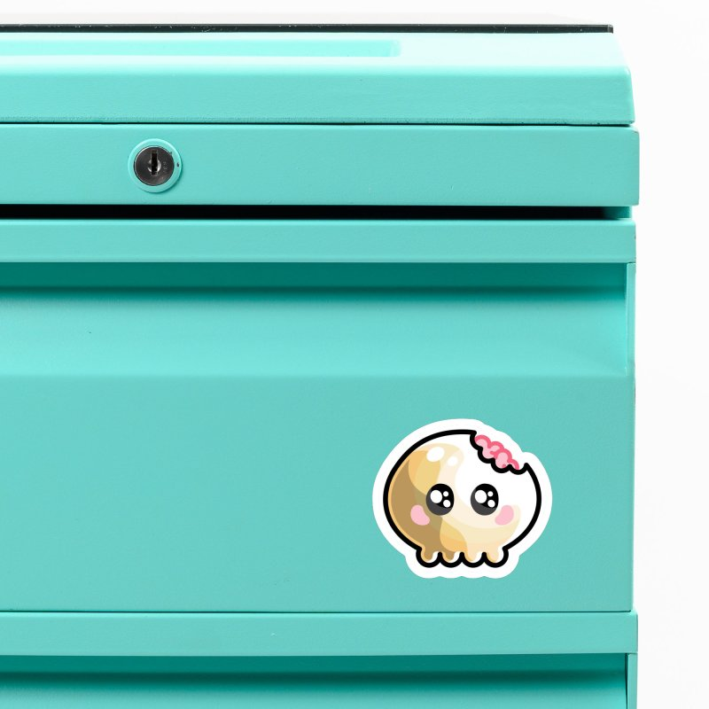 Kawaii Cute Skull and Brains Accessories Magnet by Flaming Imp's Artist Shop