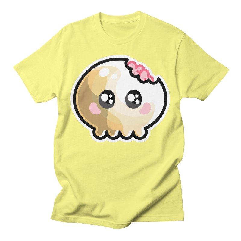 Kawaii Cute Skull and Brains Unisex T-Shirt by Flaming Imp's Artist Shop