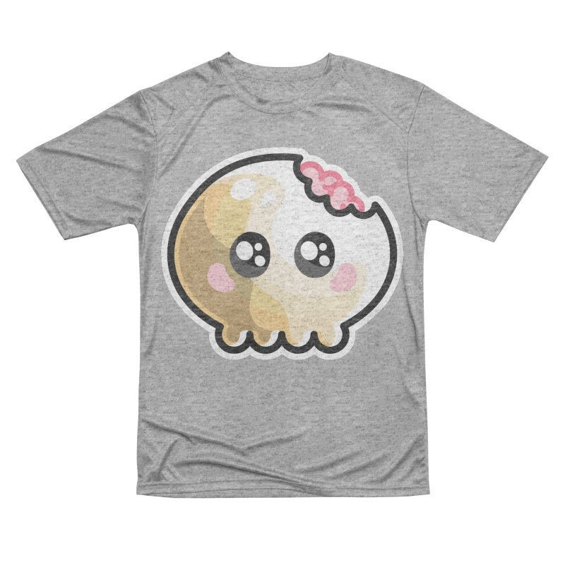 Kawaii Cute Skull and Brains Women's Performance Unisex T-Shirt by Flaming Imp's Artist Shop