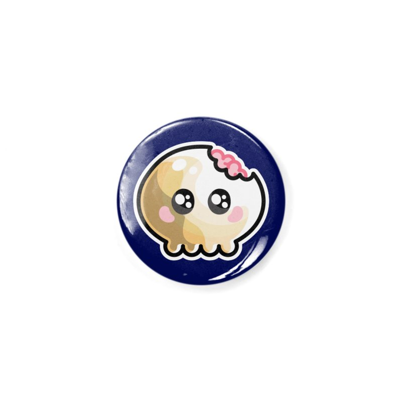 Kawaii Cute Skull and Brains Accessories Button by Flaming Imp's Artist Shop