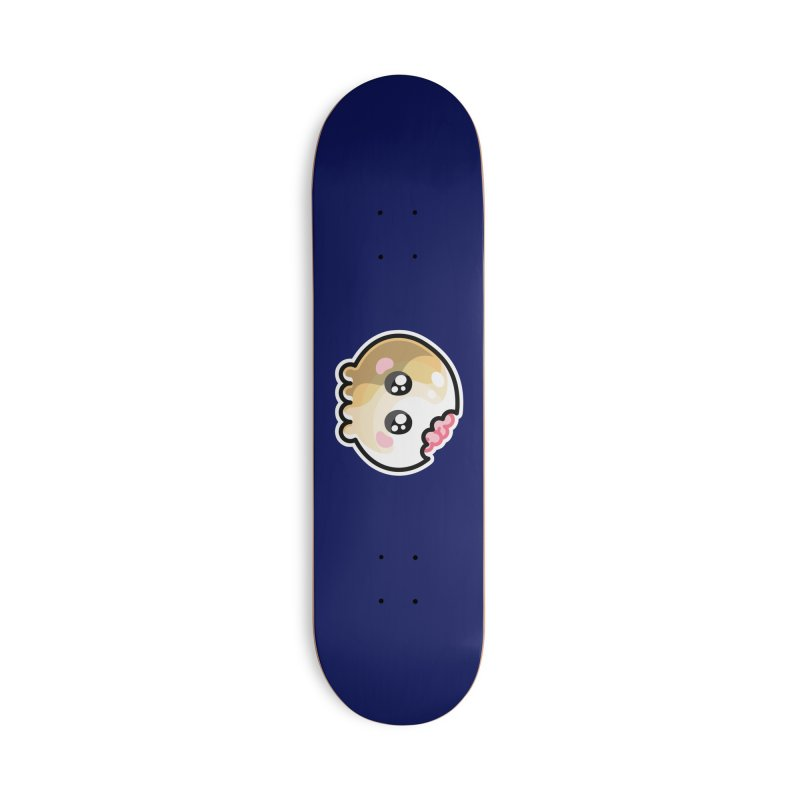 Kawaii Cute Skull and Brains Accessories Deck Only Skateboard by Flaming Imp's Artist Shop
