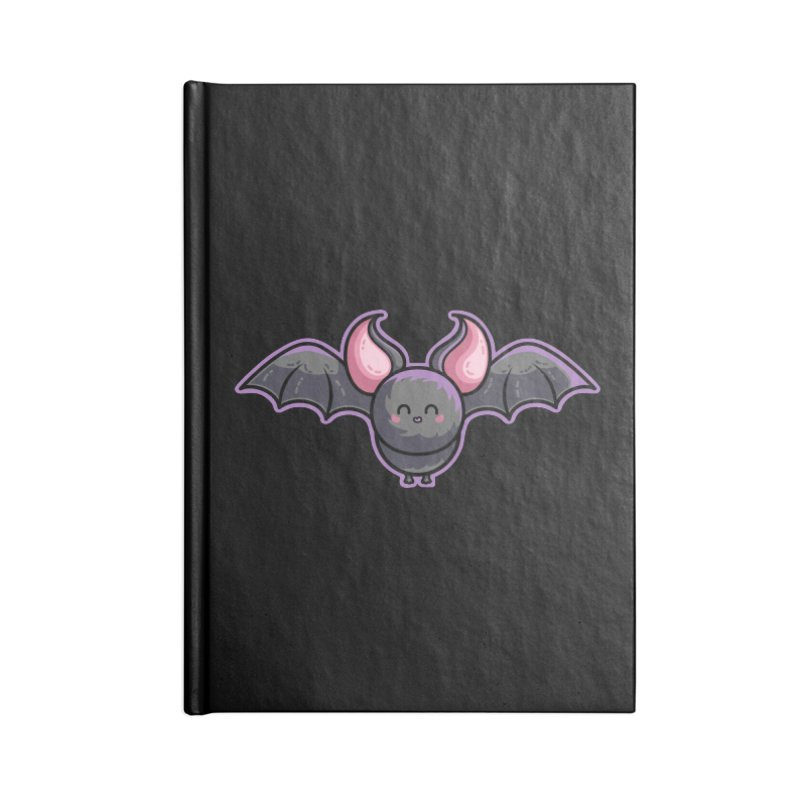 Kawaii Cute Bat Accessories Blank Journal Notebook by Flaming Imp's Artist Shop