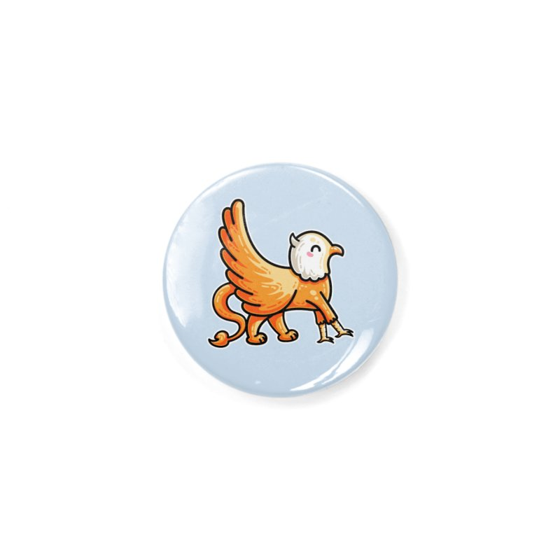 Kawaii Cute Griffin Accessories Button by Flaming Imp's Artist Shop