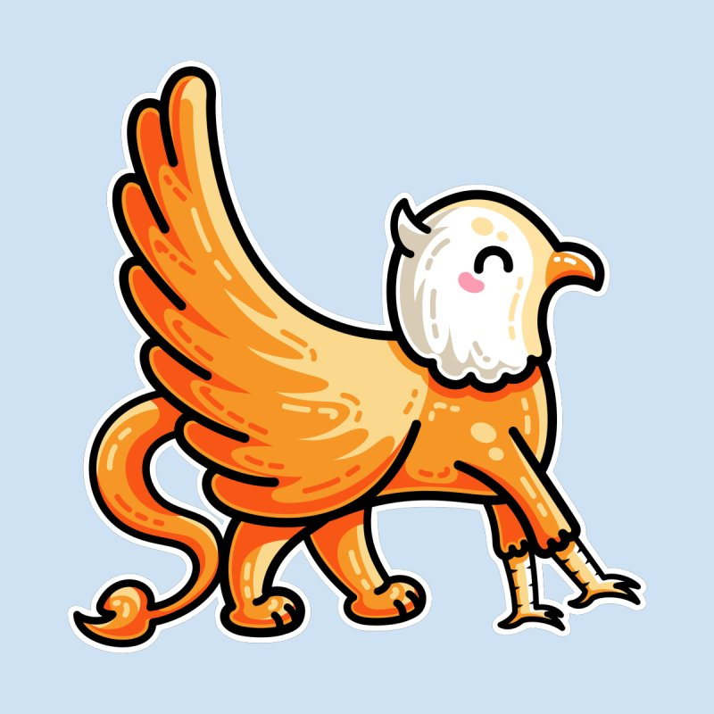 Kawaii Cute Griffin by Flaming Imp's Artist Shop