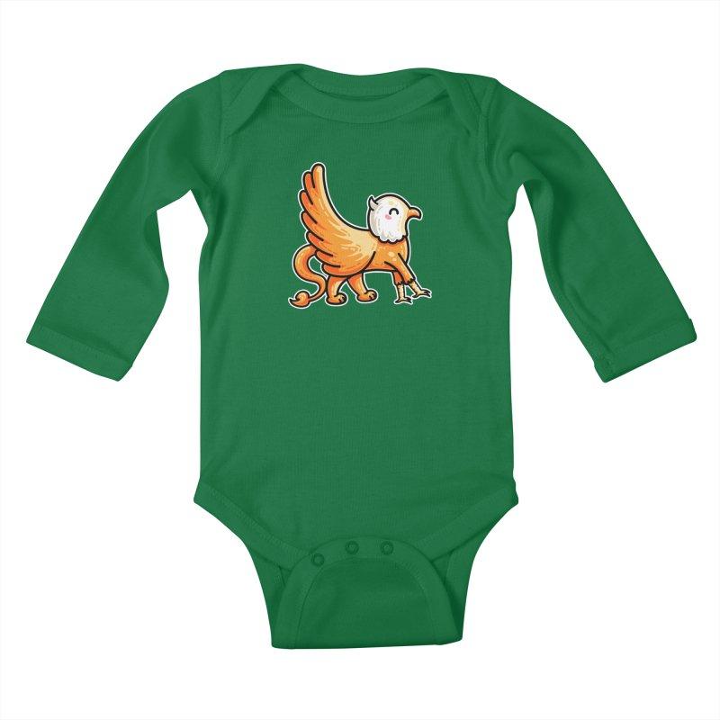 Kawaii Cute Griffin Kids Baby Longsleeve Bodysuit by Flaming Imp's Artist Shop