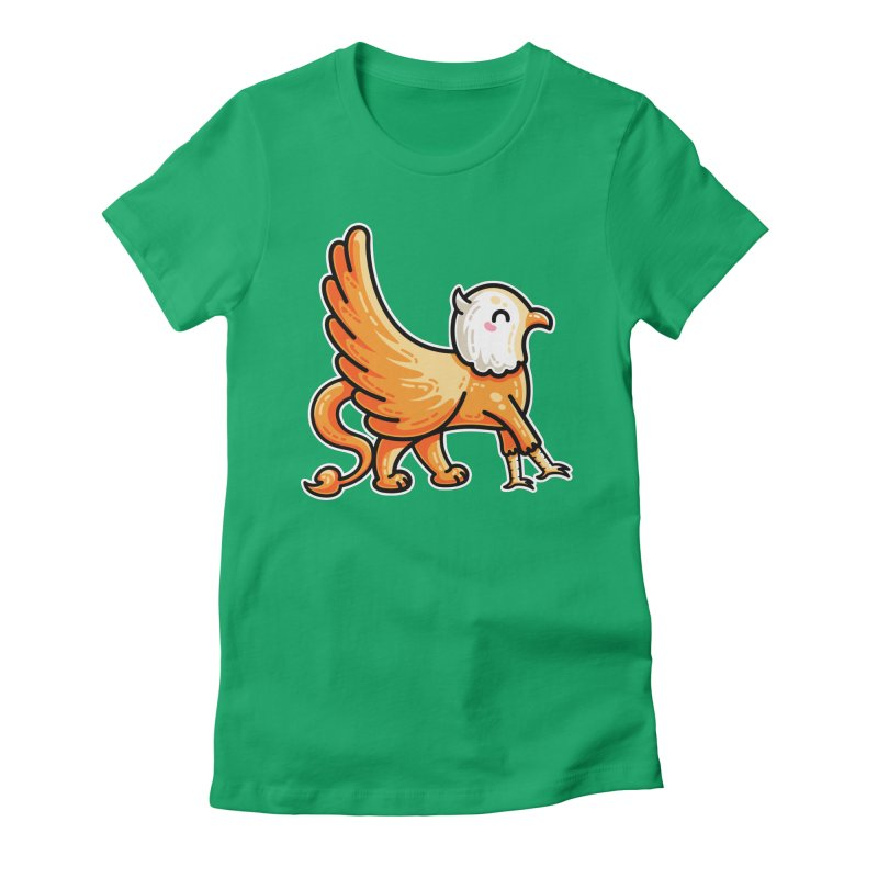Kawaii Cute Griffin Women's Fitted T-Shirt by Flaming Imp's Artist Shop