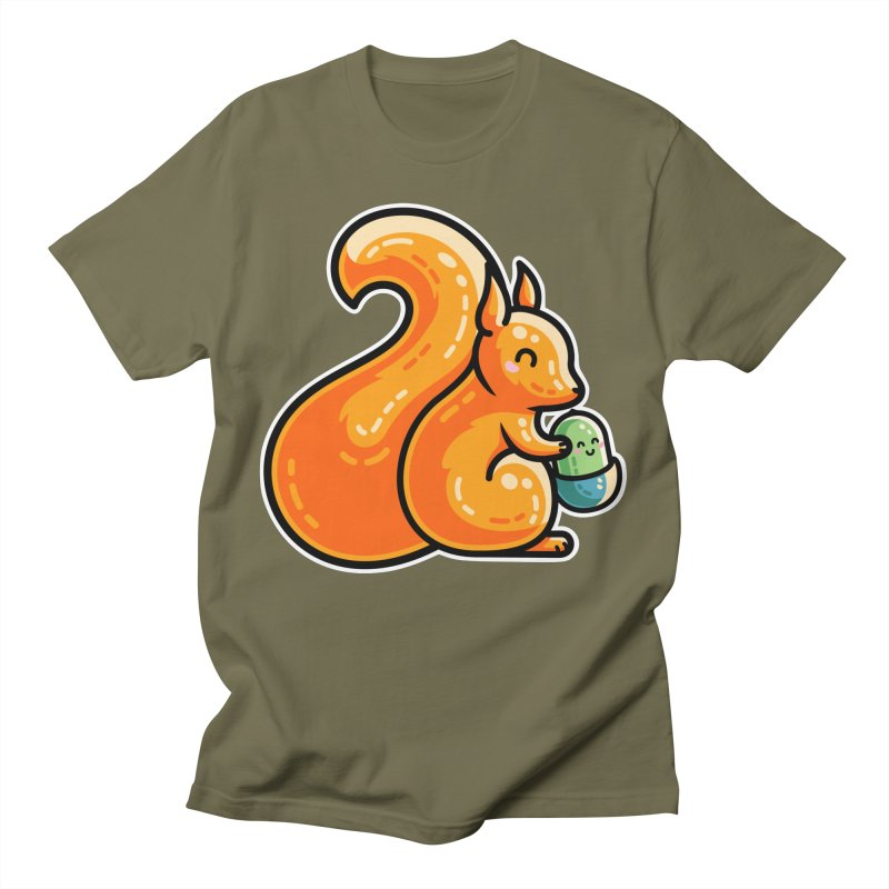 Kawaii Cute Red Squirrel and Acorn Unisex T-Shirt by Flaming Imp's Artist Shop