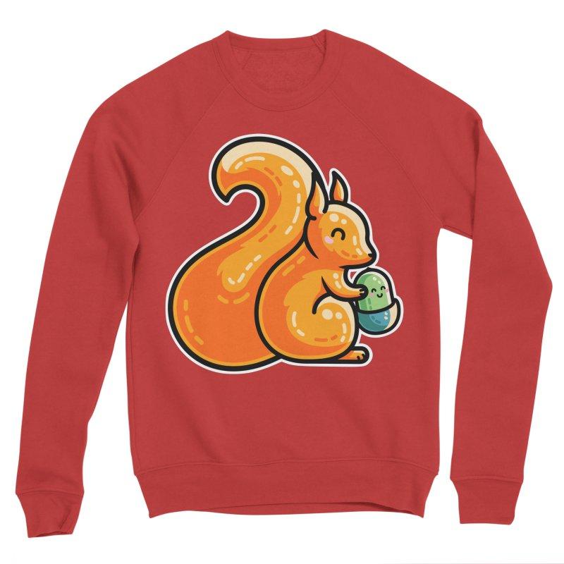 Kawaii Cute Red Squirrel and Acorn Women's Sponge Fleece Sweatshirt by Flaming Imp's Artist Shop