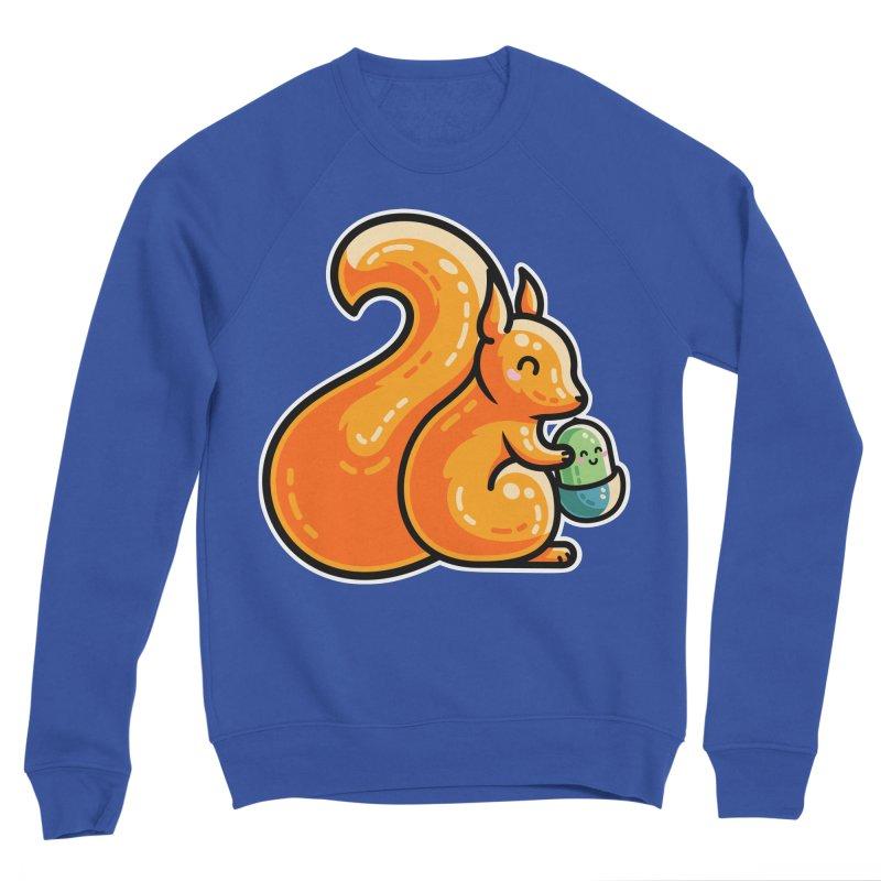 Kawaii Cute Red Squirrel and Acorn Unisex Sweatshirt by Flaming Imp's Artist Shop