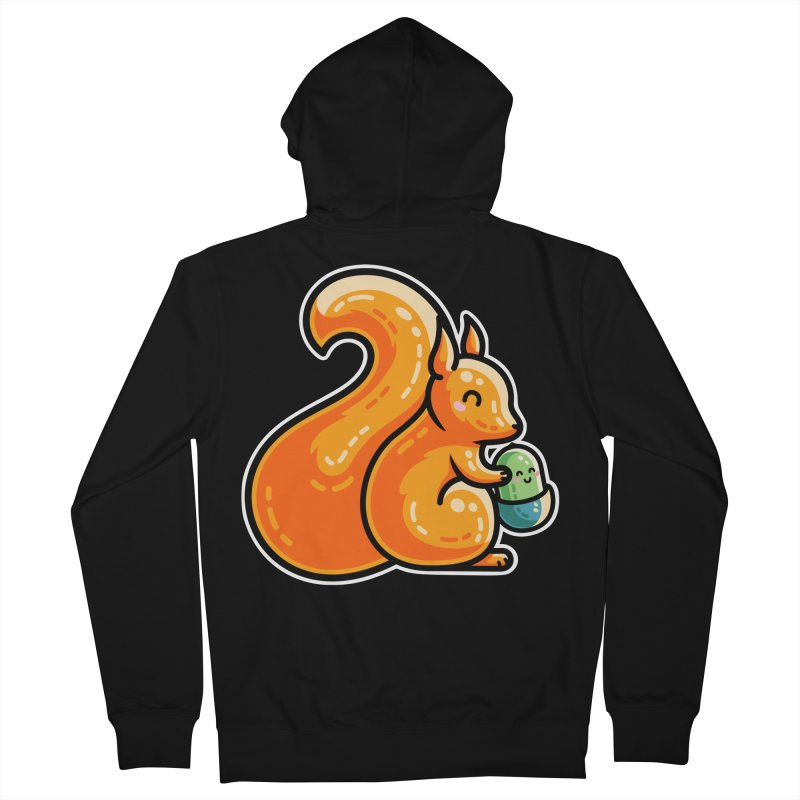 Kawaii Cute Red Squirrel and Acorn Unisex Zip-Up Hoody by Flaming Imp's Artist Shop