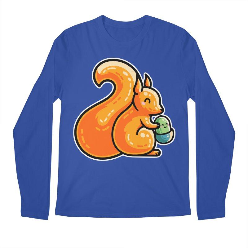 Kawaii Cute Red Squirrel and Acorn Men's Longsleeve T-Shirt by Flaming Imp's Artist Shop
