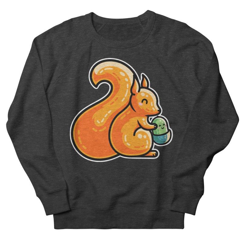 Kawaii Cute Red Squirrel and Acorn Men's Sweatshirt by Flaming Imp's Artist Shop