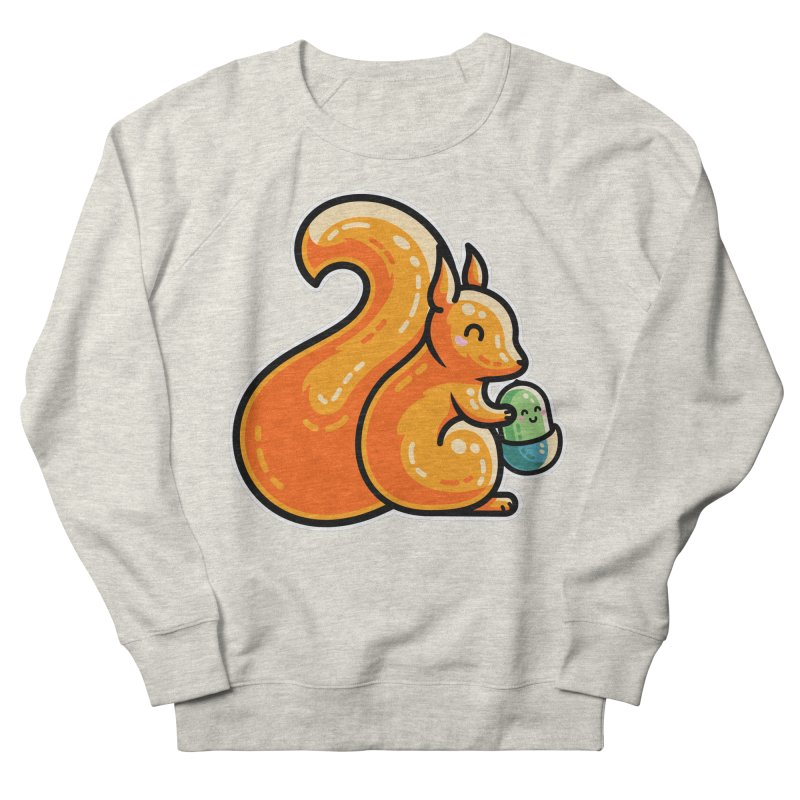 Kawaii Cute Red Squirrel and Acorn Men's Sweatshirt by Flaming Imp's Artist Shop