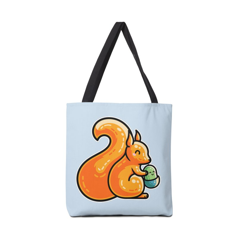 Kawaii Cute Red Squirrel and Acorn Accessories Bag by Flaming Imp's Artist Shop