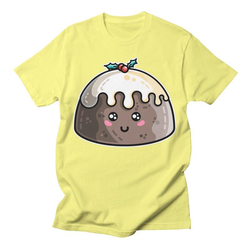 Kawaii Cute Christmas Pudding Unisex T-Shirt by Flaming Imp's Artist Shop