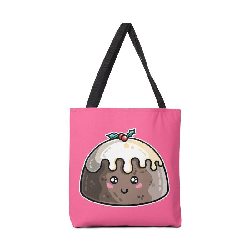 Kawaii Cute Christmas Pudding Accessories Tote Bag Bag by Flaming Imp's Artist Shop