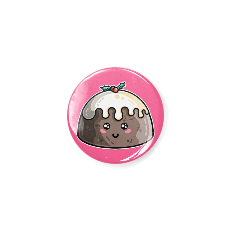 Kawaii Cute Christmas Pudding Accessories Button by Flaming Imp's Artist Shop