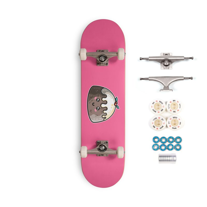 Kawaii Cute Christmas Pudding Accessories Complete - Premium Skateboard by Flaming Imp's Artist Shop