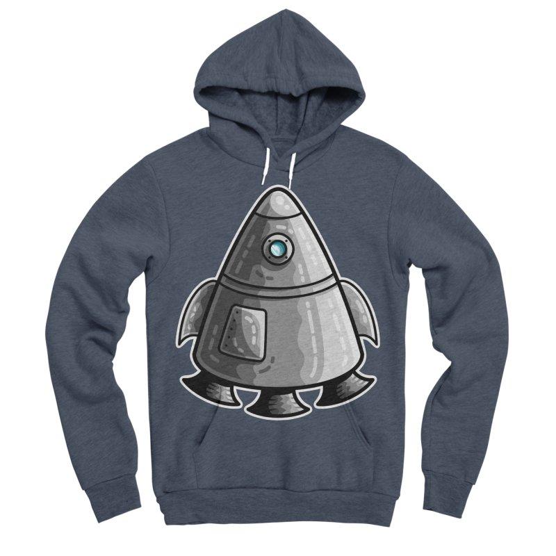 Space Capsule Men's Sponge Fleece Pullover Hoody by Flaming Imp's Artist Shop
