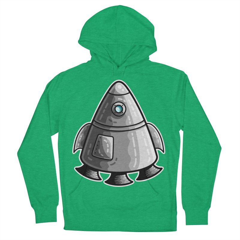Space Capsule Men's French Terry Pullover Hoody by Flaming Imp's Artist Shop