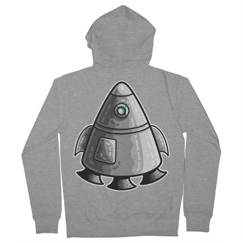 Space Capsule Women's French Terry Zip-Up Hoody by Flaming Imp's Artist Shop