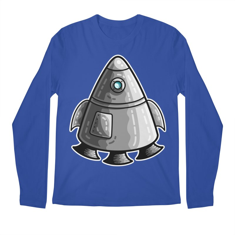 Space Capsule Men's Regular Longsleeve T-Shirt by Flaming Imp's Artist Shop