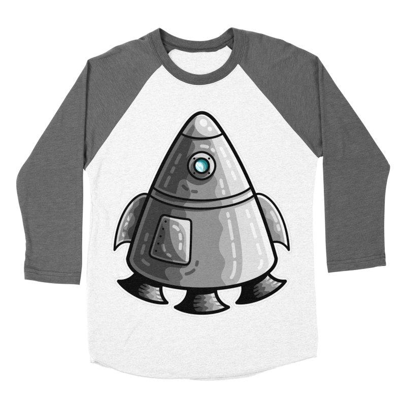 Space Capsule Men's Baseball Triblend Longsleeve T-Shirt by Flaming Imp's Artist Shop