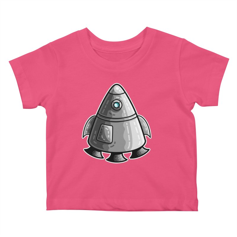 Space Capsule Kids Baby T-Shirt by Flaming Imp's Artist Shop